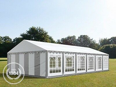 6x12m Heavy Duty PVC Marquee, Steelconstruction, Wedding Party Tent, grey-white