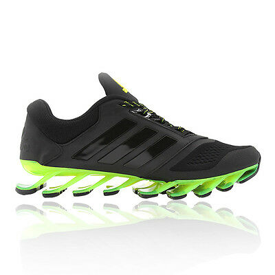 Adidas Springblade Drive 2 Mens Black Cushioned Running Sports Shoes Trainers