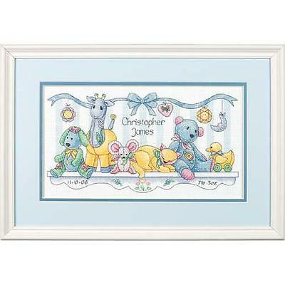 73068 Simplicity Baby's Friends Birth Record, Counted Cross Stitch w/ Thread