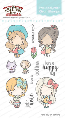 MINI-REMIX HAPPY Clear Stamp/Die Set-The Greeting Farm-Stamping Craft-Anya/Ian