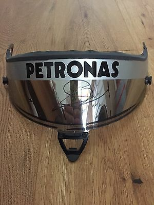 2010 used & signed Mercedes GP Schuberth visor from Nico Rosberg