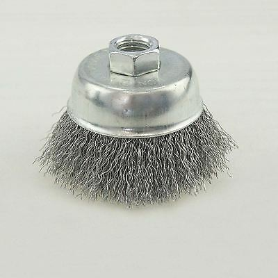 14002214 65mm Steel Wire Cup Brush Angle Griner Brush Zinc Plated Rust Removing