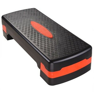 2 Risers Fitness Aerobic Step Stepper Adjustable Exercise Cardio Workout Block