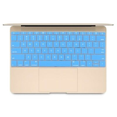 TECNICO Blue Soft 12 inch Silicone Keyboard Protective Cover Skin for new MacBo