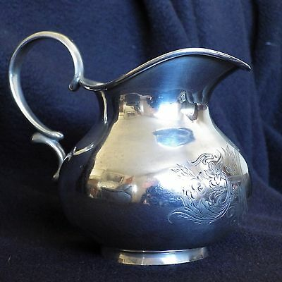 Antique 19th Century, 800 Silver, German Cream Jug. Of a Squat Baluster form