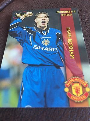 David Beckham Manchester United Futera Football Trading Card Perfect Condition