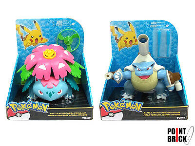 POKEMON Battle Action Figure - Mega Blastoise - Mega Venusaur by TOMY