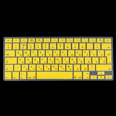 TECNICO Yellow Colorized Apple Laptop Silicone Keyboard Protector Protective Fi