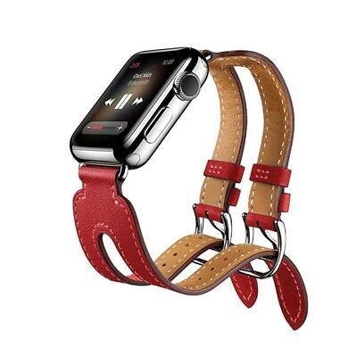HI-TECH Red Kakapi for Apple Watch 42mm Fashionable Classical Double-buckle Cow