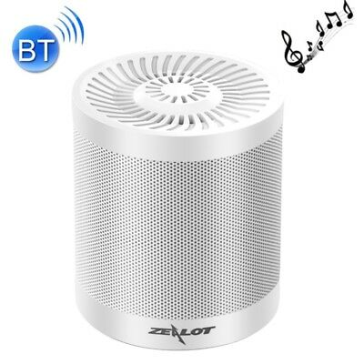 HI-TECH White Zealot S5 Bluetooth Speaker with Mic, Support Hands-free & TF Car
