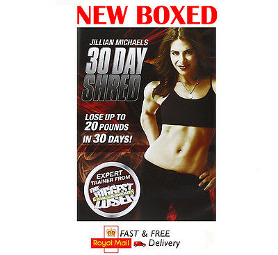 Jillian Michaels - 30 Day Shred DVD Workout Fitness Home New Boxed