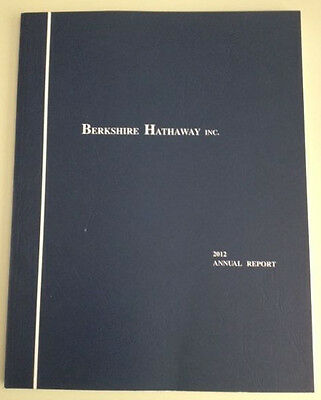 Berkshire Hathaway 2012 annual report