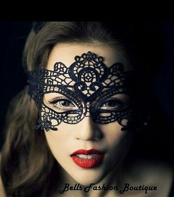 50 Shades Kinky Ladies Erotic Lace Party Fancy Dress Burlesque Face Mask £3.99