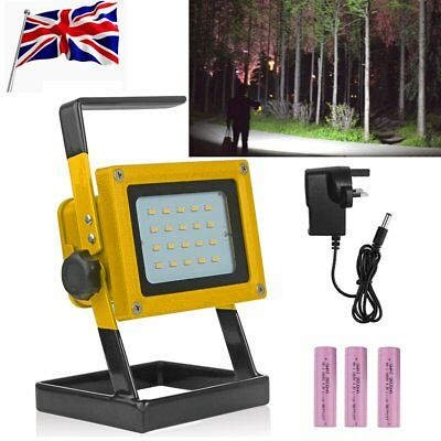 30W Portable Outdoor LED Floodlight Rechargeable IP65 Work Light Charger Lamp UK
