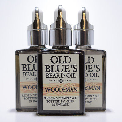 Old Blues Beard Oil  Woodsman Scent 100% Natural with Vitamin E 30ml
