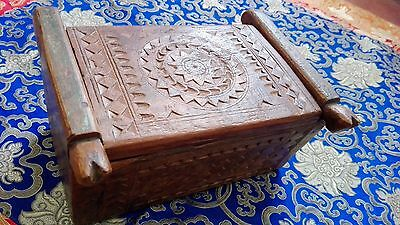 Authentic 1780 circa - Antique Wooden Box Chest Dowry - 18th India -