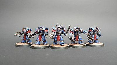 GW Warhammer 40k Space Marines CATAPHRACTII TERMINATORS pro painted - bemalt