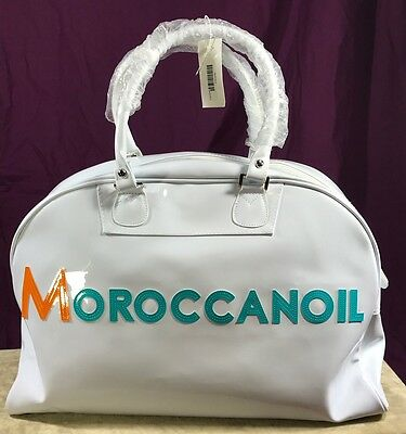Moroccanoil Carry On/Beach/ Cosmetic/Hairdresser/Tote Large Bag White NWT