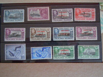 British commonwealth stamps-Falkland Islands-MNH  & M/M Values To 1/-