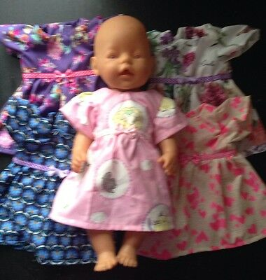 Homemade Baby Born Dress - 5 Pattern Choices