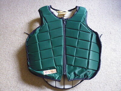 Racesafe 2010 Childs Large Standard Body Protector green 11-14 years appro