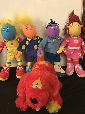 "Complete Set Of 5 Tweenies 14"" Plush Soft Toys JAKE MILO FIZZ BELLA DOODLES VGC"