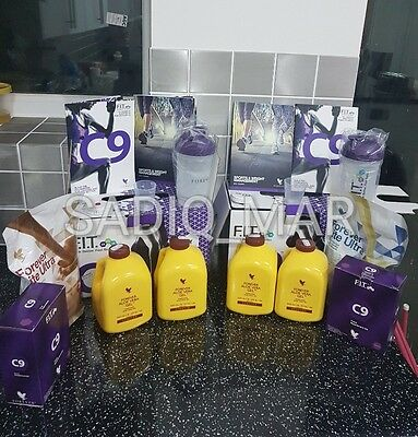 2 x New Forever Living Clean 9 C9 Detox Cleansing Newest Program Choc & Vanilla
