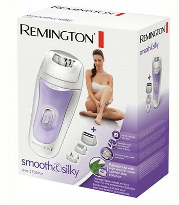Remington EP7020 Womens Smooth & Silky 4 In 1 Non Slip Epilator With Light