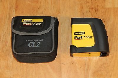 Stanley Fat Max CL2 Cross Line Level Laser with case Model # 77-153
