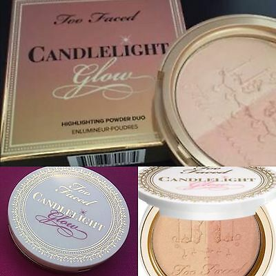 "Too Faced Candlelight ""Warm"" Glow Highlighting Powder Duo. 100% Auth & New"
