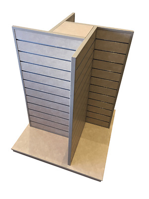 Slat wall Gondola 4 Way 1000 x 1000 mm Shop Display Stand Slat Panels