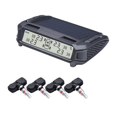 Solar Power Wireless Car TPMS Tire Pressure Monitor System+4 Internal Sensor
