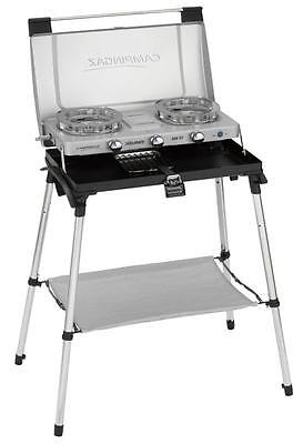 Campingaz 600 ST 2 Burner Portable Gas Stove Table Top Cooker With Grill & Legs