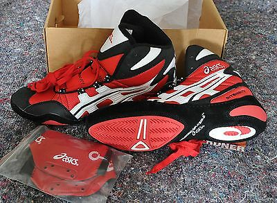 NOS! RARE! ASICS Boxed INTENSITY Wrestling Shoe Boots UK 9.5, US 10.5, EU 43.5