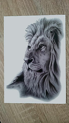 21x15cm-Sheet-High-Quality-Lion-Head-Fake-Tatto-Party-Cool-Waterproof-Temporary