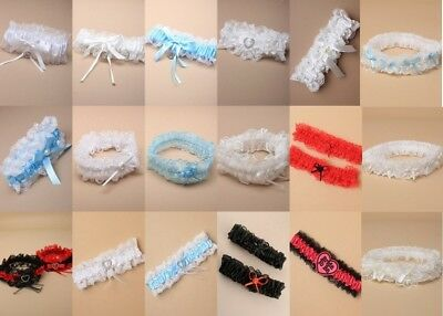 Elasticated Garter, Lace, Ribbon, Wedding, Prom, Party, Hen Night, Costume, Fun