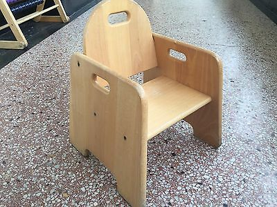 4 toddler and children's wooden chairs