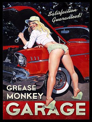 Grease Monkey, Metal Vintage, Sign Bar Pub Club Man Cave Garage Shed