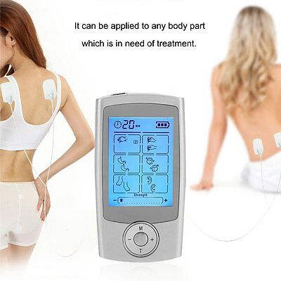 16 Mode TENS Unit Digital Electronic Pulse Massager Therapy Muscle Full Body OH