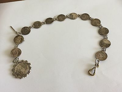 Antique fob watch chain