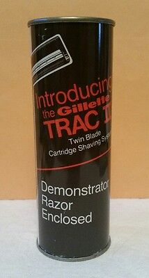 Vintage Gillette Trac II Demonstrator Shaving Razor SEALED Can Bulk Mail Promo