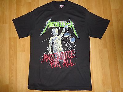 """Shirt Metallica """"and Justice For All Tour 88-89""""   Vintage 1988"""