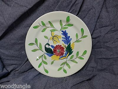 RARE Vintage Taylor Smith & TAYLOR FLORAL HAND PAINTED CHOP PLATE PLATTER 1942