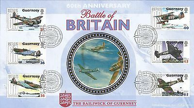 Guernsey 2000 Battle Of Britain Benham First Day Cover