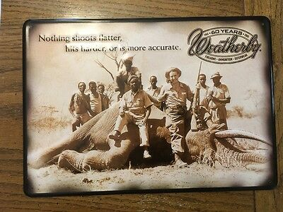 Weatherby 60th Anniversary metal vintage Sign