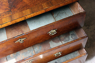Antique Delightful Queen Anne Period Walnut Chest of Three Drawers c.1710