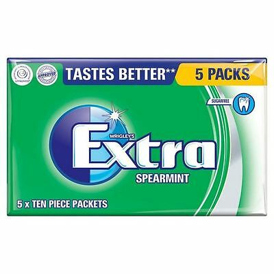 Wrigley's Extra Sugarfree Spearmint Gum Multipack 5 x 14g