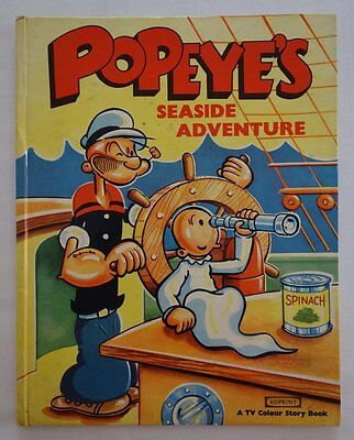 Popeye's Seaside Adventure TV Colour Story Book c1950s to 60s VG (phil-comics)