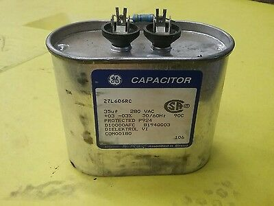 General Electric Motor Run Start Capacitor, 280Vac (27L606Rc)