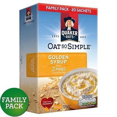 Quaker Oat So Simple Gold Syrup Sachets 20 x 36g